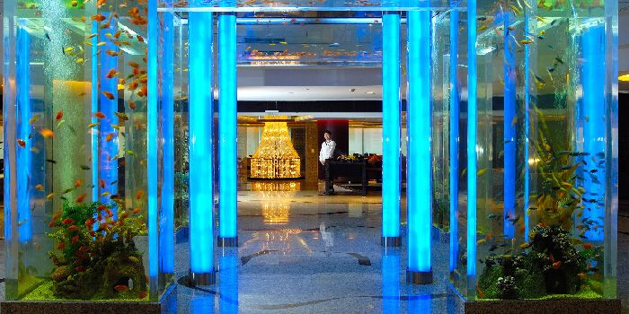 Aquarium of Ai Mei Chinese Restaurant in Le Royal Méridien Shanghai, Huangpu, Shanghai