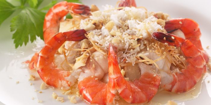 Prawns from Lapis Thai (Taikang Lu) in Xuhui, Shanghai