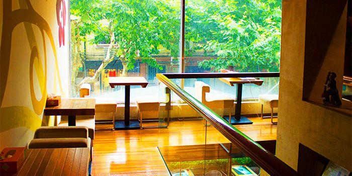 Interior of JustGrapes in Anfu Lu, Shanghai