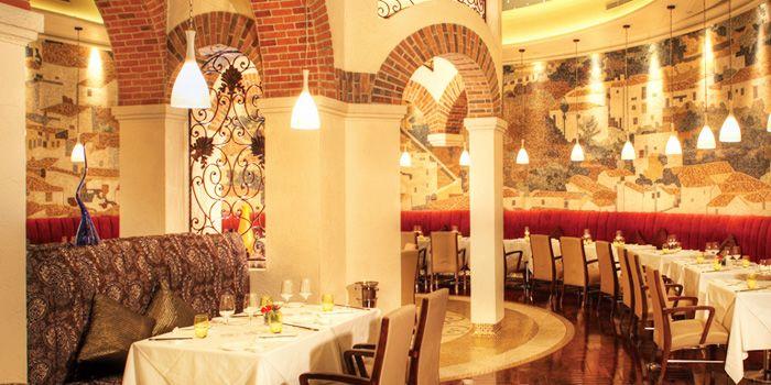 Dning Area of Albero Spanish Restaurant in Grand Kempinski Hotel Shanghai, Pudong, Shanghai