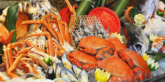 Seafood Spread from Elements in Grand Kempinski Hotel Shanghai, Pudong, Shanghai