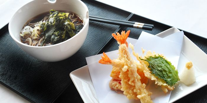 Tempura with Noodles from Elements in Grand Kempinski Hotel Shanghai, Pudong, Shanghai