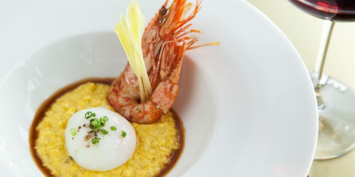 Shrimp and Fresh Corn Grits from Table No. 1 in The Bund, Shanghai