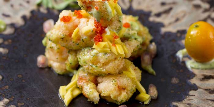 Crispy-fried-shrimp-wasabi-golden-jujube-dressing From a Chinese Cookbook in Huangpu District,shanghai