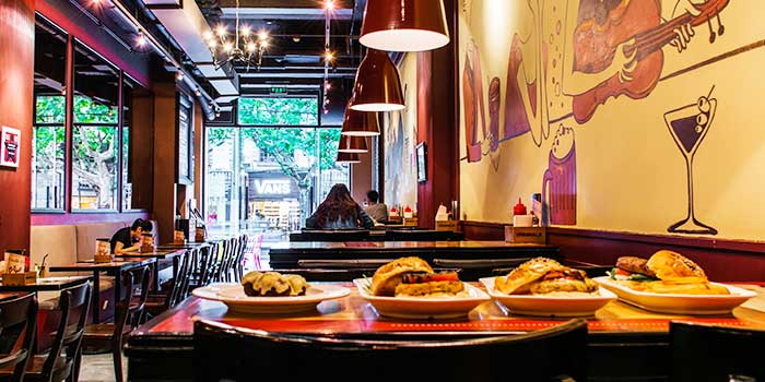 Interior of Bistro Burger in Xuhui, Shanghai