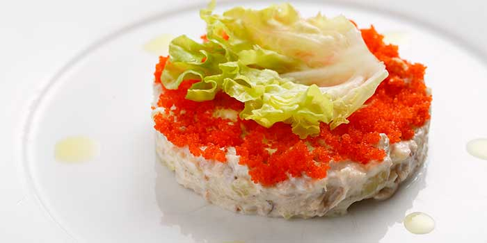 Jumbo Crab Meat and Potato Salad from Jade on 36 Restaurant in Pudong, Shanghai