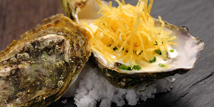 Oysters from Jade on 36 Restaurant in Pudong, Shanghai