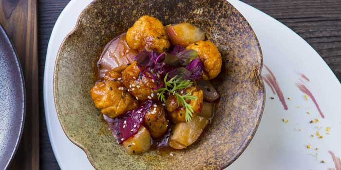 Rose-apple-and-pork,-duo-of-sweet-sour-and-spicy-sauce From a Chinese Cookbook in Huangpu District,shanghai