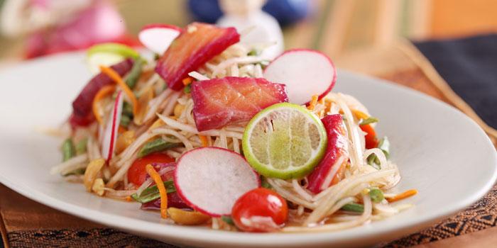 Salmon salad from Patara Fine Thai Cuisine restaurant in Dongcheng District, beijing