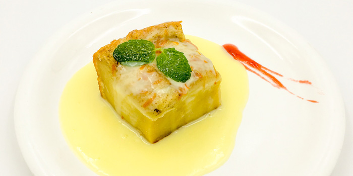 bread and butter pudding from the Mr Harry restaurant in Jing