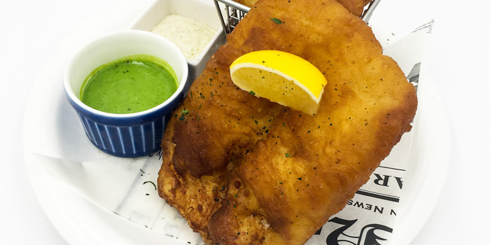 Fish and chips from the Mr Harry restaurant in Jing