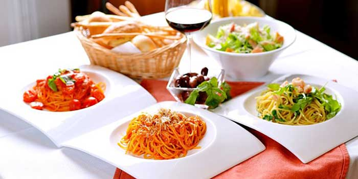 Pasta Selection from Seve Restaurant located in Jing
