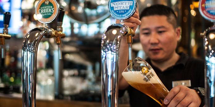 Beer Bar of Shanghai Brewery in Xuhui District,shanghai