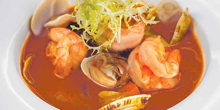 Seafood Soup from Moon's Steakhouse in Jing