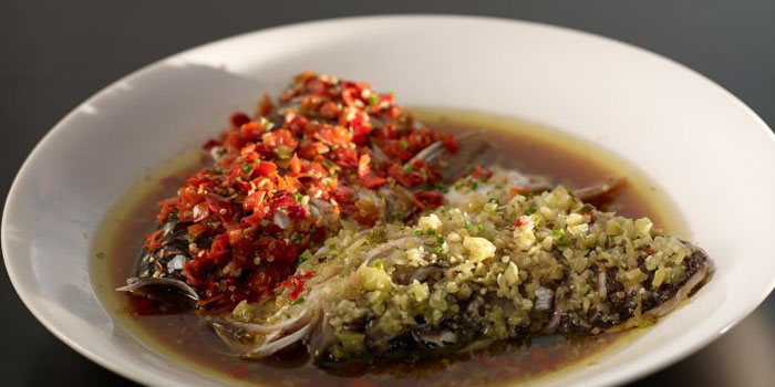 Steamed Fish Head with Chilli Pepper from Hunan House located on Fuxin Xi Lu,Shanghai