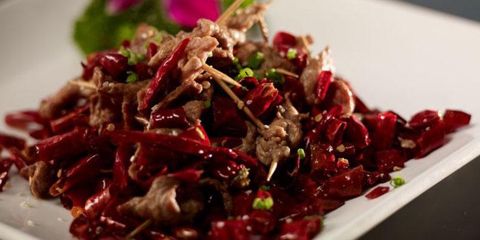Beef on toothpicks from Hunan House located on Fuxin Xi Lu,Shanghai