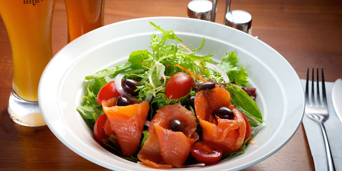 Salmon salad  from Shanghai Brewery in Xuhui District,shanghai
