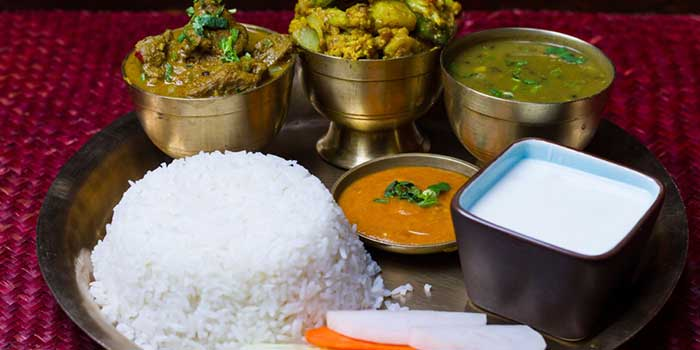 Rice Set from Nepali Kitchen located in Jing