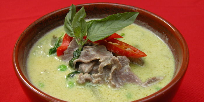 Green curry beef of Coconut Paradise located on Wukang Lu