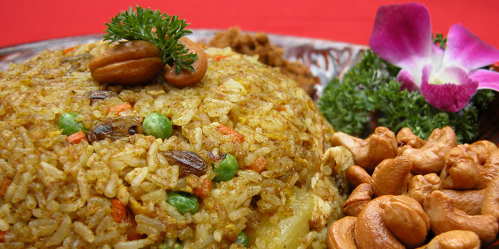 Pineapple fried rice of Coconut Paradise located on Wukang Lu