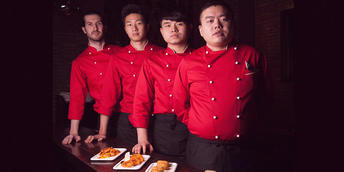 Staffs of Brownstone Tapas & lounge located on Yongjia Lu