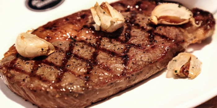 Steak of Chez Maurice Steakhouse located on Tai