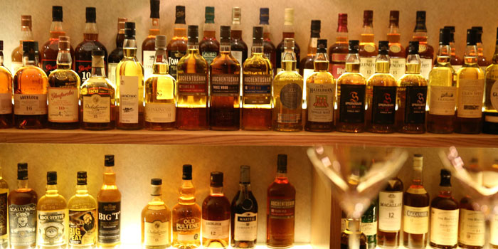 Selections of Revive Bar located on Tai