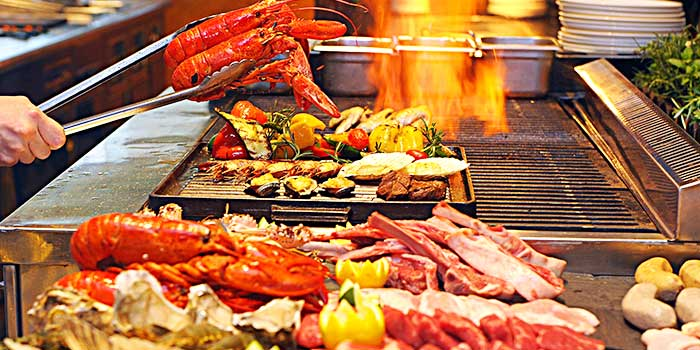 Grill Station from Yi Cafe in Pudong, Shanghai