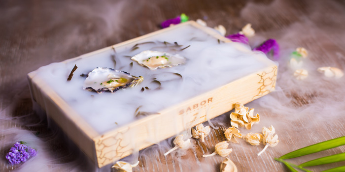 Sabor daily oysters box of Sabor Shanghai by Diego Guerrero located on Sichuan Zhong Lu, Shanghai