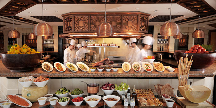 Open Kitchen of Cucina located in Grand Hyatt Pudong, Shanghai