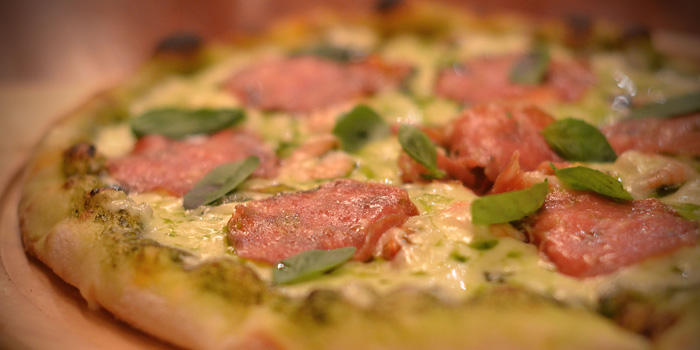 Pizza of Fumo Wine Bistro located on Xinle Lu, Xuhui District, Shanghai