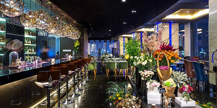 Entrance of FED Restaurant & Sky Lounge located in Luwan, Shanghai