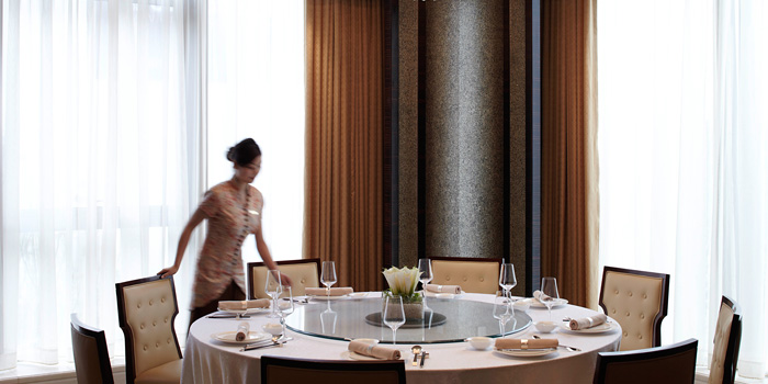 Indoor of Pearl Chinese Restaurant located on Daduhe Lu, Putuo, Shanghai