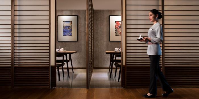 Indoor of Sakiton Grill & Sushi located at Shanghai Marriott Hotel on Daduhe Lu, Putuo, Shanghai