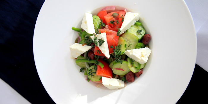 Salad of Greek Taverna Milos located on Yueyang Lu, Xuhui District, Shanghai