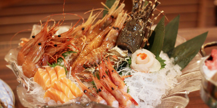 Shrimp of Sakiton Grill & Sushi located at Shanghai Marriott Hotel on Daduhe Lu, Putuo, Shanghai