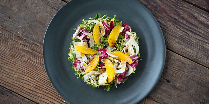 Italian-Chicories-Salad-with-Orange-and-Fennel-Aged-Balsamic-and-Olive-Oil  of Mercato by Jean Georges located on Zhongshan Dong Yi Lu, Huangpu District, Shanghai, China