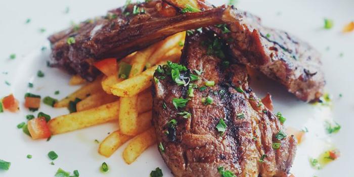 Steak of Greek Taverna Milos located on Laowaijia, Minhang District, Shanghai, China