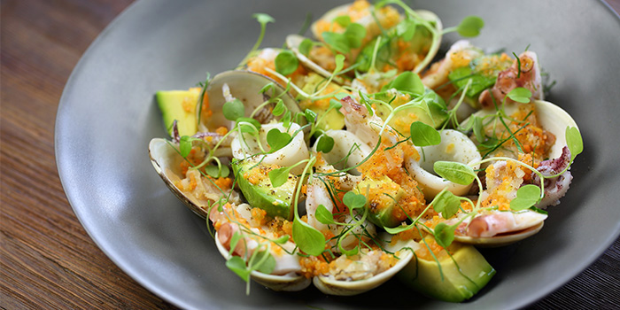 Warm-Seafood-Salad-with-Avocado-Lemon-and-Parsley of Mercato by Jean Georges located on Zhongshan Dong Yi Lu, Huangpu District, Shanghai, China