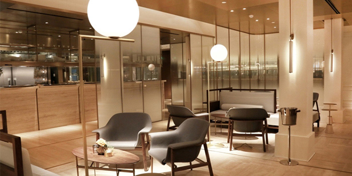 Indoor of Jean Georges located on Zhongshan Dong Yi Lu, Huangpu District, Shanghai, China