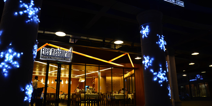 Outdoor of Efes Restaurant Turkish & Mediterranean Cuisine located in Lujiazui, Pudong District, Shanghai, China