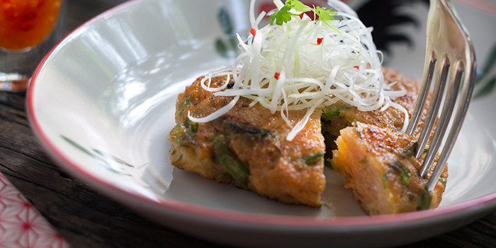 String Bean Prawn Cake from Ginger Modern Asian Bistro located in Xuhui, Shanghai