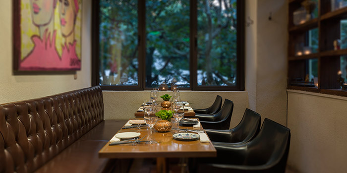 Private Seating of Ginger Modern Asian Bistro located in Xuhui, Shanghai