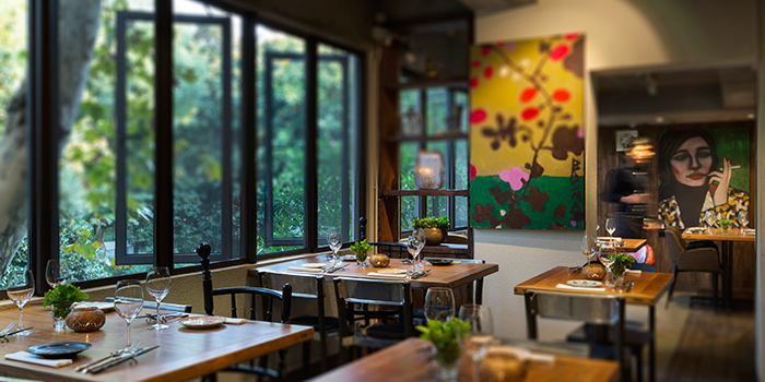 Interior of Ginger Modern Asian Bistro located in Xuhui, Shanghai