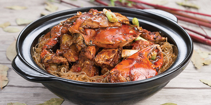 Black Pepper Crab with Vermicilli from Crystal Jade Restaurant (Disneyland) located in Pudong, Shanghai