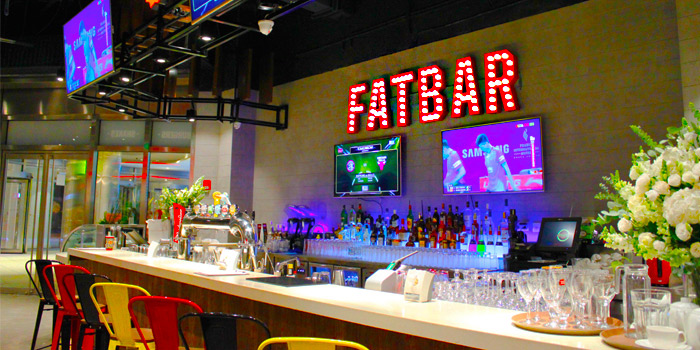 Fatbar of Fatburger (Shanghai Tower) located in Pudong, Shanghai