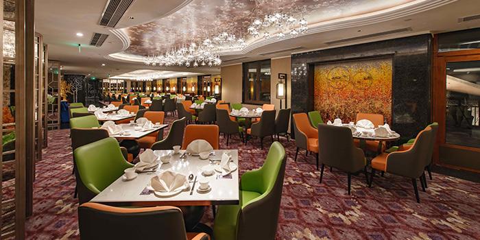Interior of Crystal Jade Restaurant (Disneyland) located in Pudong, Shanghai
