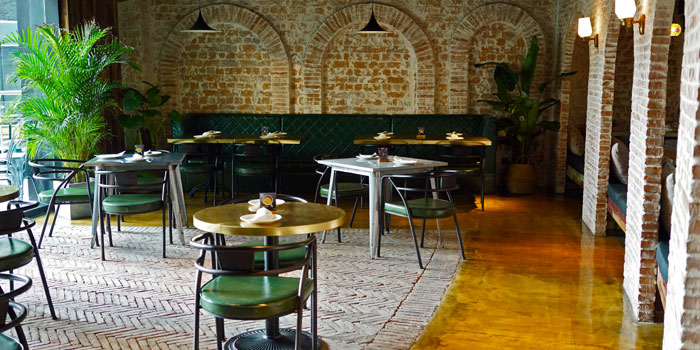 Indoor of Lotus Land Indian Cuisine located on Zunyi Lu, Changning, Shanghai