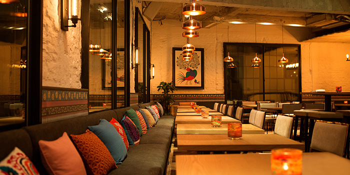Indoor Seating Area of Bombay Bistro located in Xuhui, Shanghai