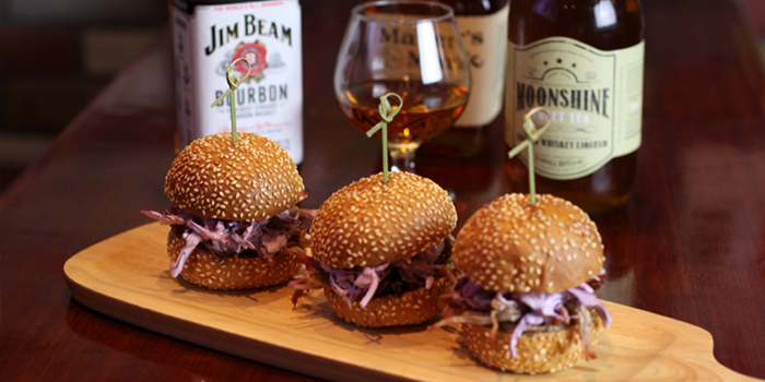 Sliders from The Blind Pig Bourbon & Smokehouse located in Hongqiao, Shanghai